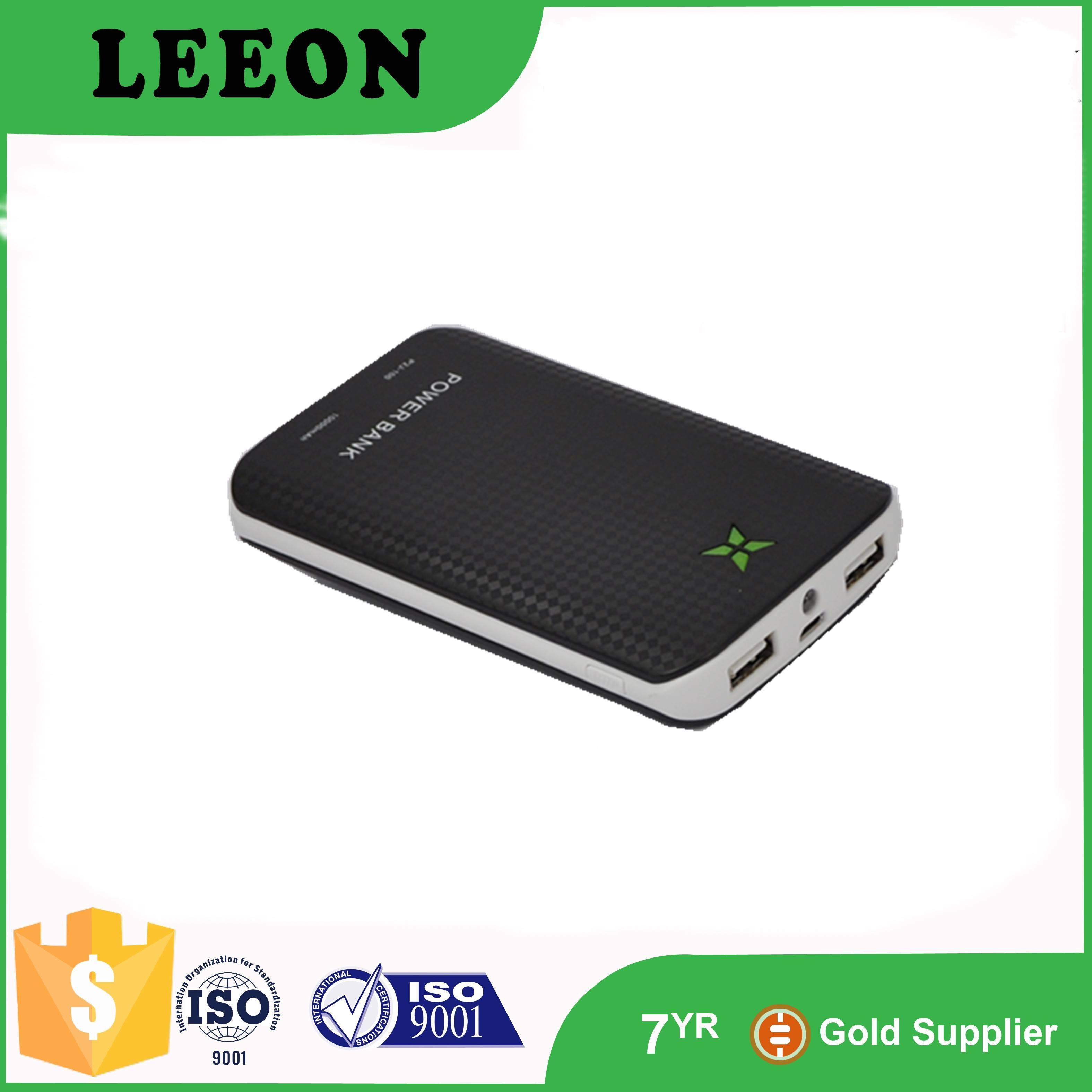 High quality 10000mah polymer battery dual usb portable power bank