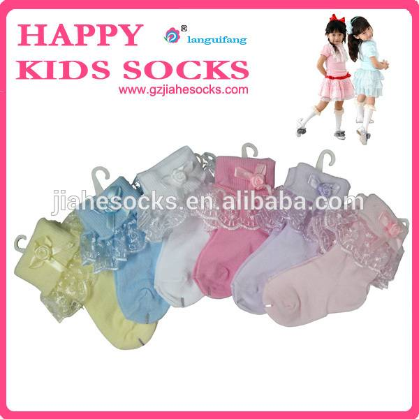 Baby's socks with lace girl socks