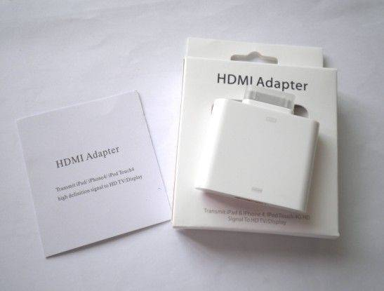 HDMI Adapter, Suitable for Apple's iPad/iPhone, Supports Plug-and-play Function