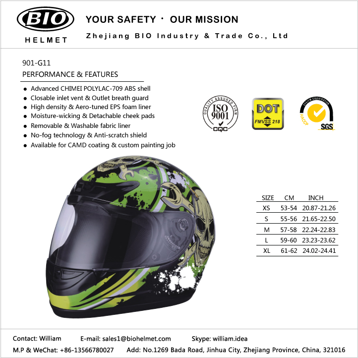2018 new full face motorcycle helmets DOT/ECE certificated