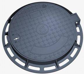 China trade En 124 standard ductile iron ground covers with hinge and lock