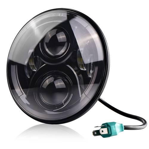 "2015 newest design leds car headlight off road aluminum housting 7"" 7 inch led headlights for 4X4 ve"