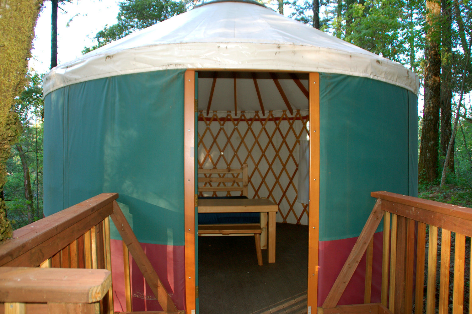 20ft modern yurt with wooden frame