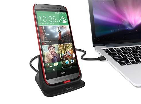 kidigi Ultrathin mobile phone Desktop Charging Dock for HTC One (M8)