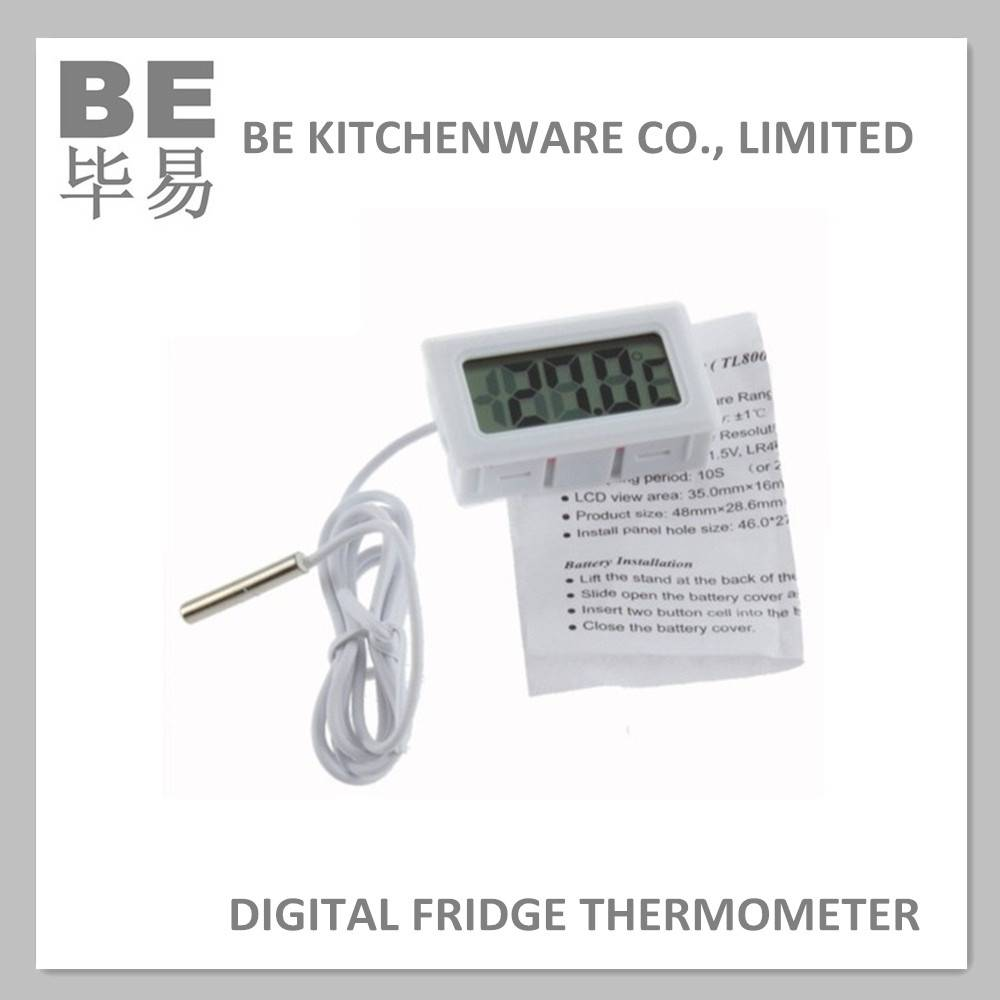 Flexible lcd display digital fridge thermometer