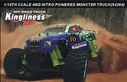 1:16th Scale Nitro Powered Monster Truck