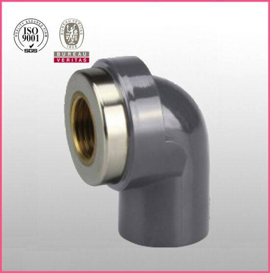 HJ brand UPVC ASTM D2467 SCH80 pipe fitting copper female thread elbow