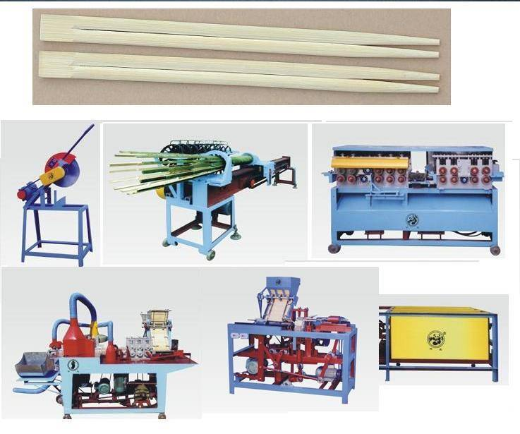 Wood bamboo disposable chopsticks making machine processing manufacturing production line