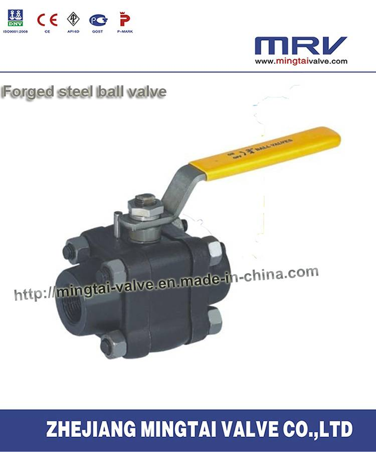 Three Piece Forged Steel Ball Valve