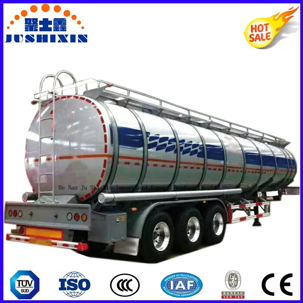 3 Axle 52cbm Aluminium Crude Oil/Petrol/Gasoline/Fuel Utility Tanker Truck Semi Trailer