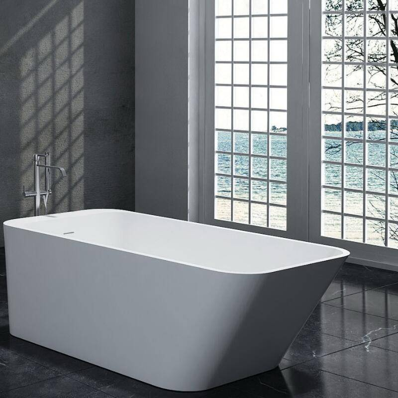 Solid Surface Stone Freestanding Bathtub with Cupc Approval (PB1046)