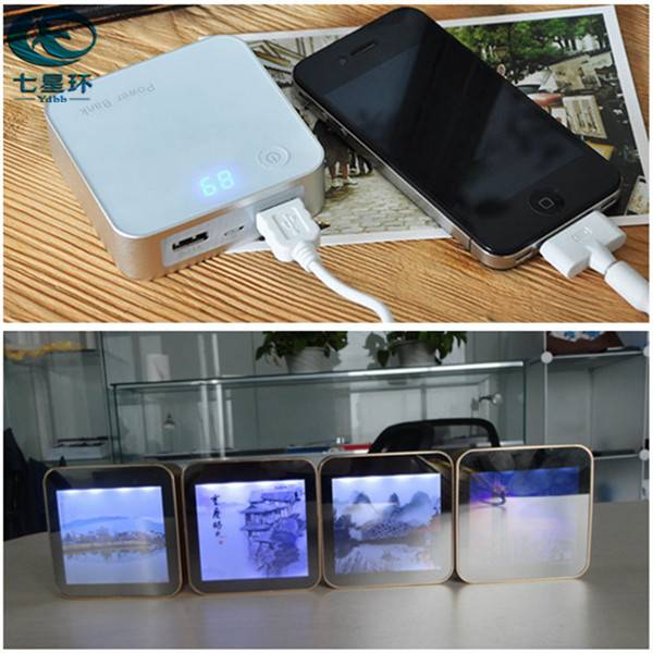6000mah High quality promotion mobile phone gifts powerbank with LCD ad screen