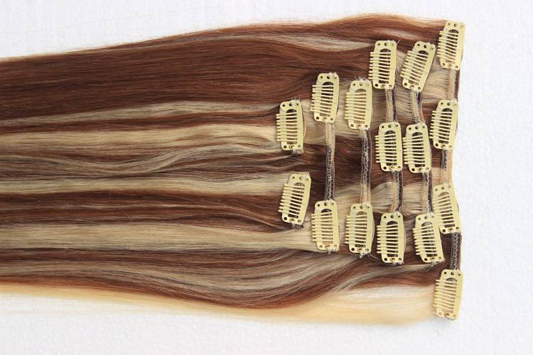 "Remy Human Hair Clip In Hair Extensions 18""-30"" Ombre Color Clip In Hair Weaving"