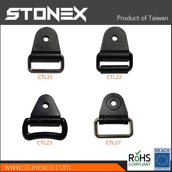 Stonex Plastic Chafe Tabs with metal and roller stamp on bag