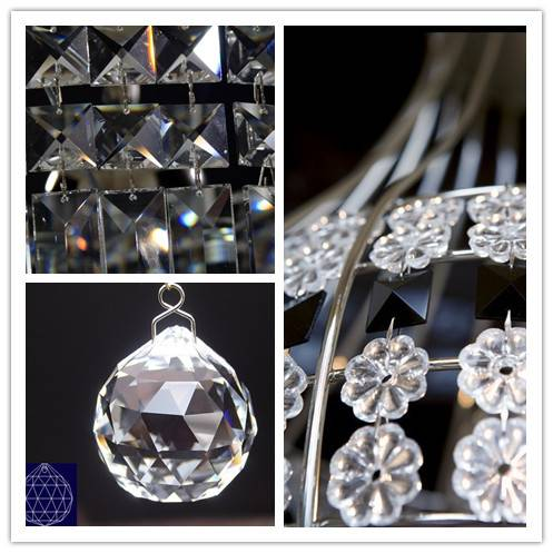 Crystal Chandelier Parts size from 38mm to 89mm different styles for chandelier and X'mas Decoration