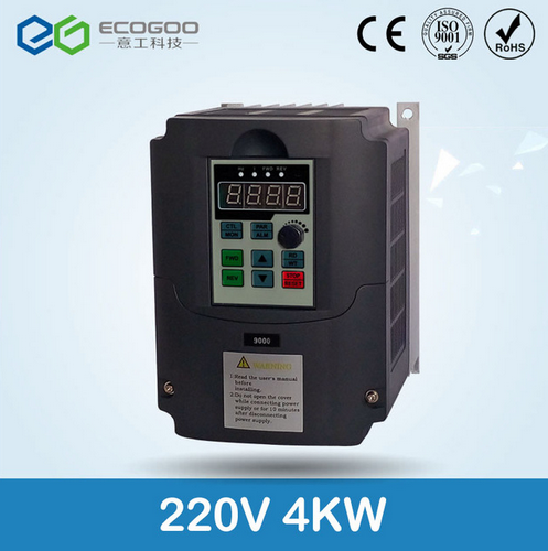 220V 4KW Frequency Inverter, Variable Frequency Converter for Water Pump and Fan blower,220v 1 phase