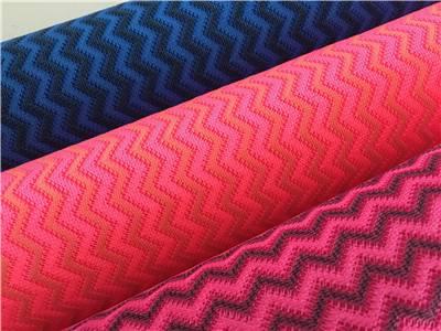striped plain net micro mesh fabric