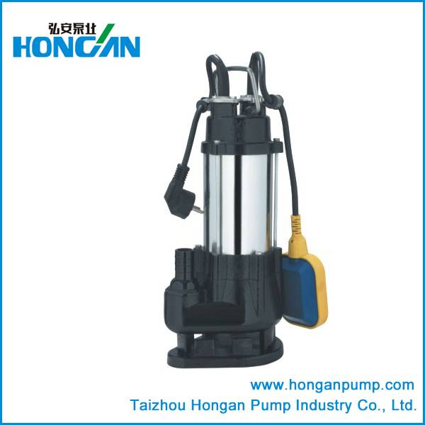 Stainless steel sewage submersible pump with float switch