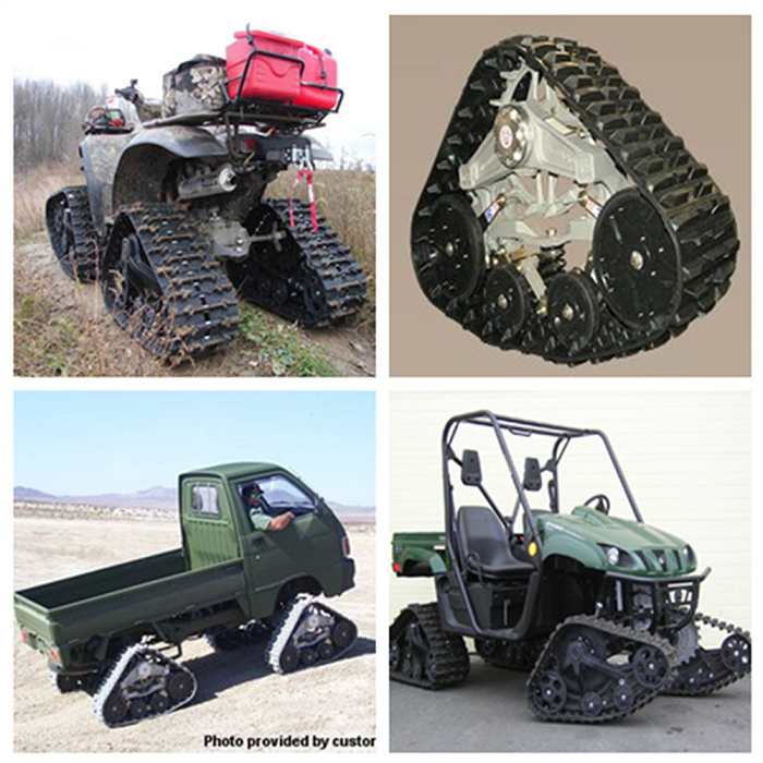 Rubber track system for ATV UTV Construction Agricultural Snow Rubber Track System