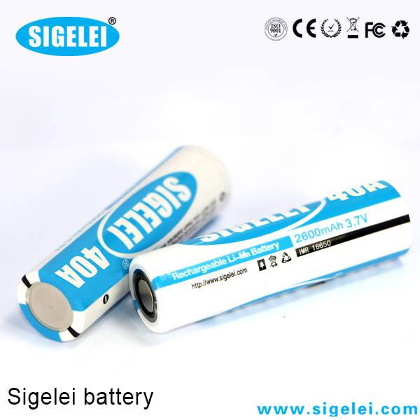 Sigelei 26650 40A high drain rechargeable battery 26650 battery for Sigelei TC mod!