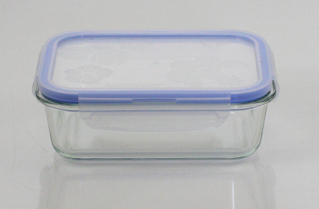 rectangular vacuum food storage container with pump