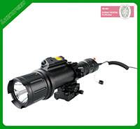 Mini flashlight and shockproof green laser sight combo