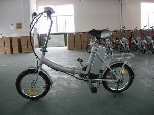 Folding e bike E-TDE06C - silver