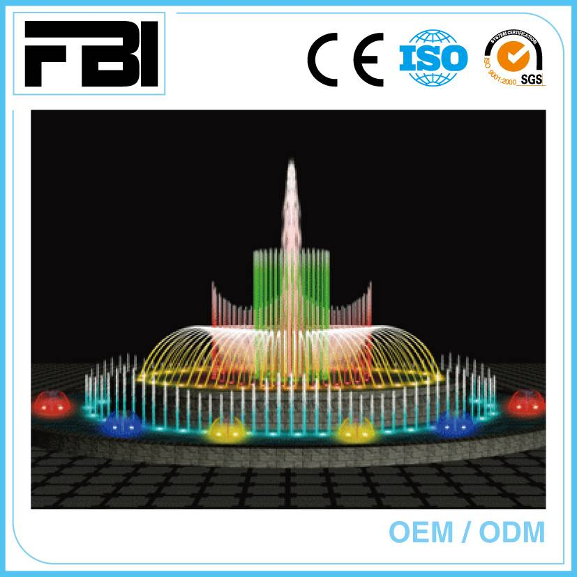 10m round dancing fountain, music effect, china customized