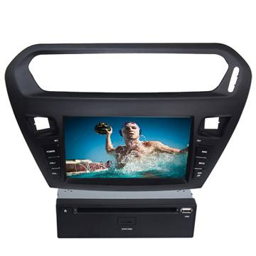 Citroen Elysee model Car radio dvd player with GPS Bluetooth Ipod