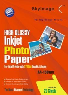 150g Inkjet High Glossy Photo Paper