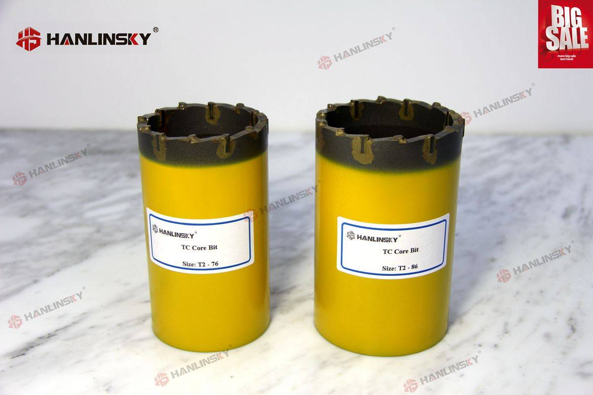 T2-66 T2-76 T2-86 T2-101 Series Tungsten Carbide core bits