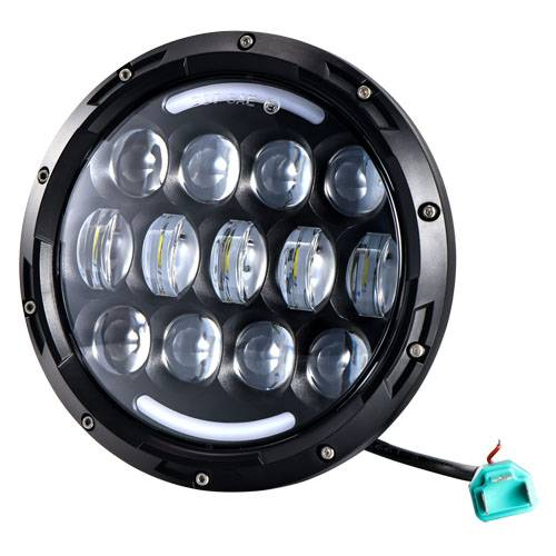78W 7'' 7 inch Car Led Headlight 4x4 Offroad Car Led Hi/Lo Beam Headlight with Halo Ring for Auto an