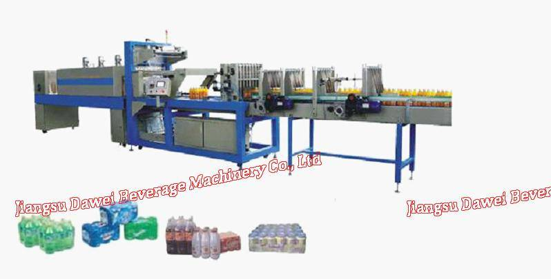 linear type high speed PE film shrink wrapping machine