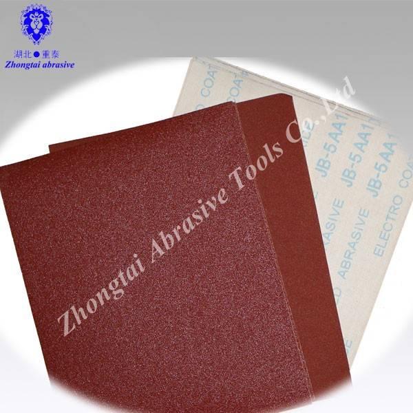 Aluminum oxide sand cloth sheet