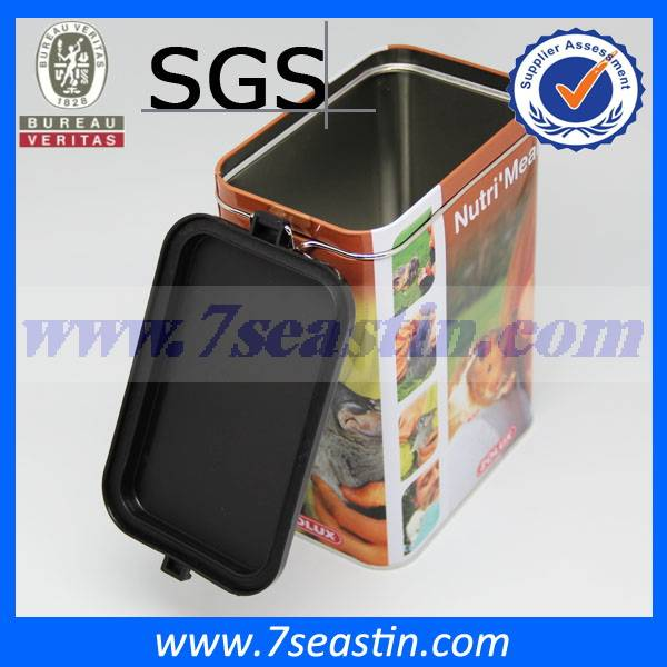 bespoke pet food tin box/cans with airtight lid manufacturer