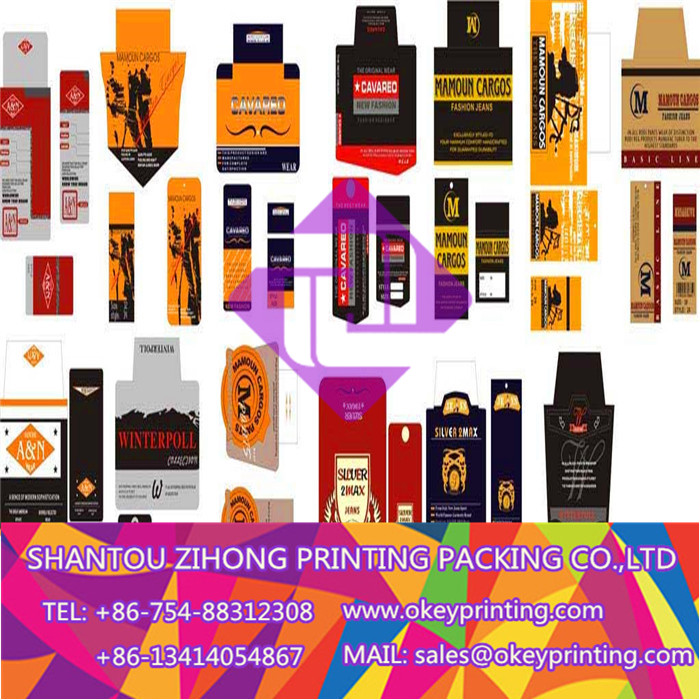 printing color paper label tag
