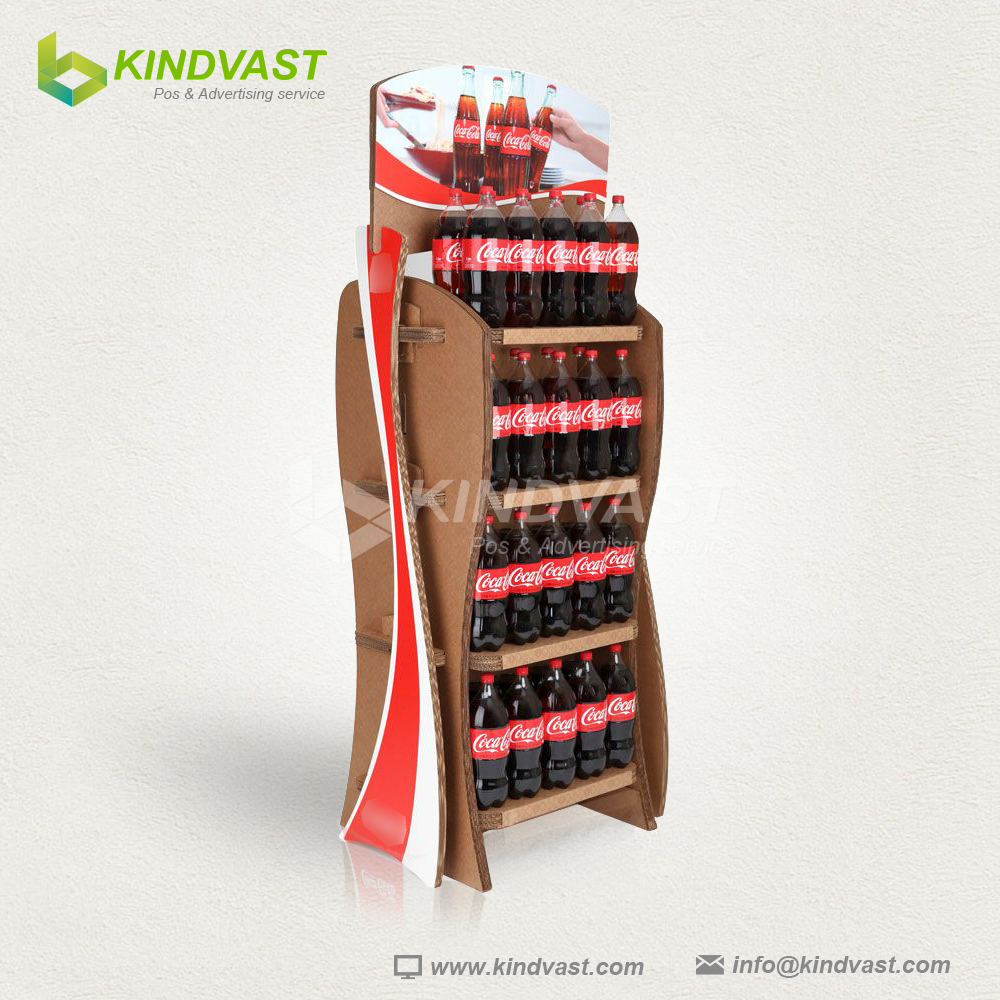 2017 New style coca cola good price cardboard display stand