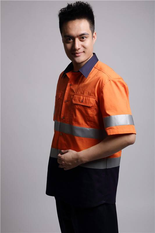 reflective tapes mens safety workwear shirts