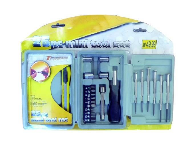 25PC Watch Tool Kit, Mini Hand Tool Set with Precision Screwdrivers