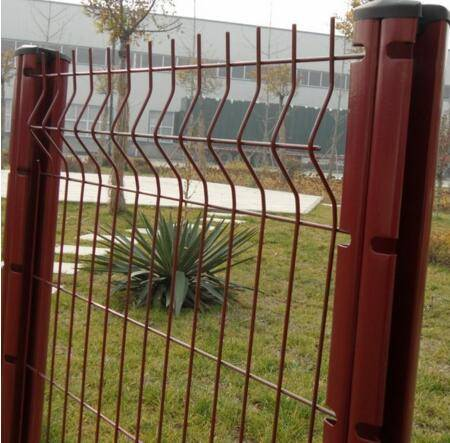 PVC Metal Wire Mesh Panel Fence(ISO9001:2008 factory)