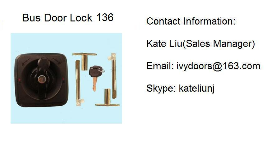 High Quality Out swing bus door lock assembly 136(Toyota Coaster ,ANKAI,YUTONG,KING LONG)