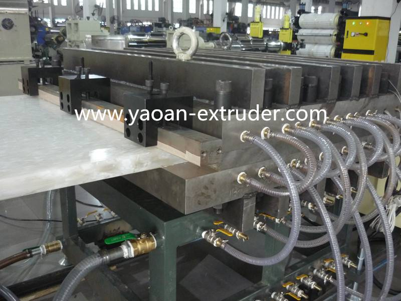 POM,ABS,HDPE board extrusion machine