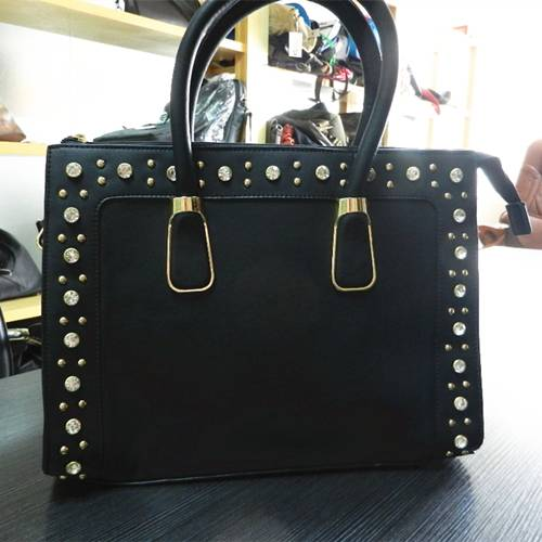 Have Sotck with metal studs and strass studs PU bags