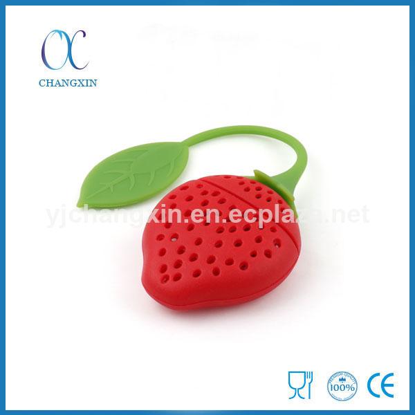 Hot Sale FAD LFGB Standard Strawberry Silicone Tea Infuser