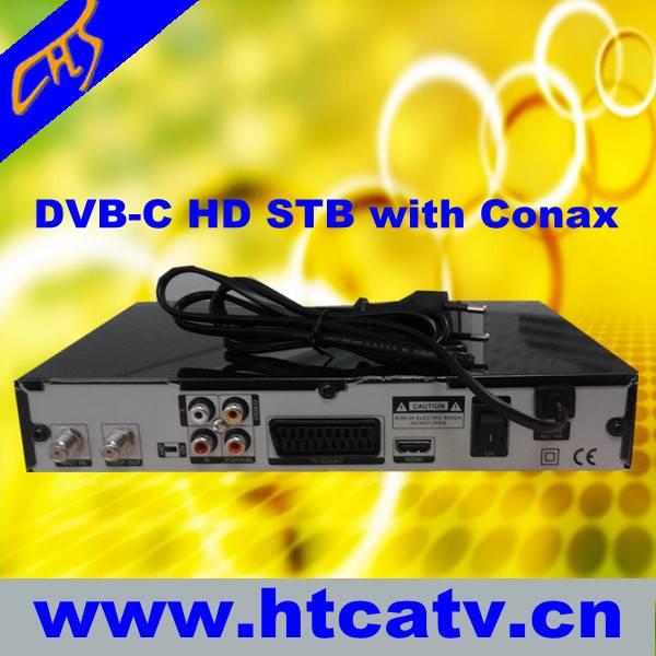 HD DVB-C with Conax CA set top box