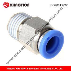 PLASTIC PUSH IN FITTINGS male straight pneumatic tube fittings, air fittings PC