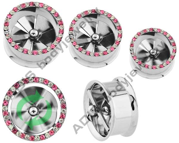 2012 new fan ear flared tunnel stainless plugs piercing