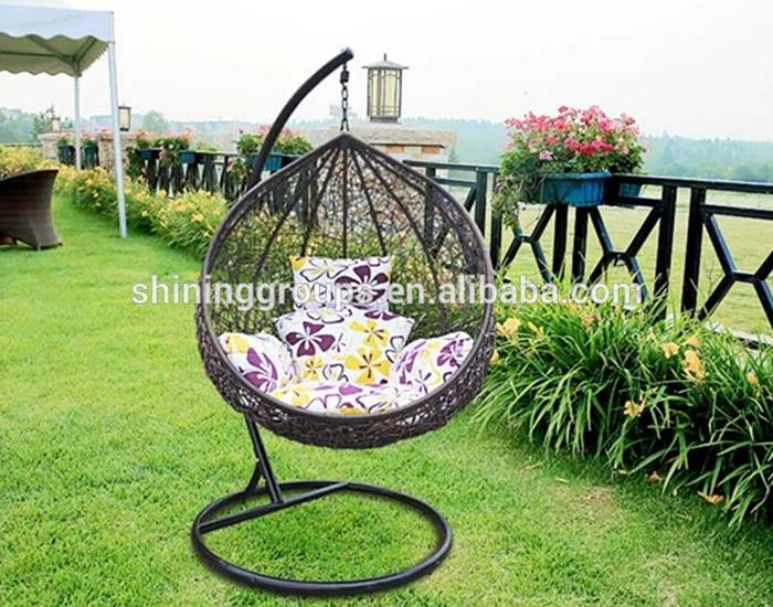 Hot Sale Outdoor Rattan Egg Swing Hanging Chair SH-8