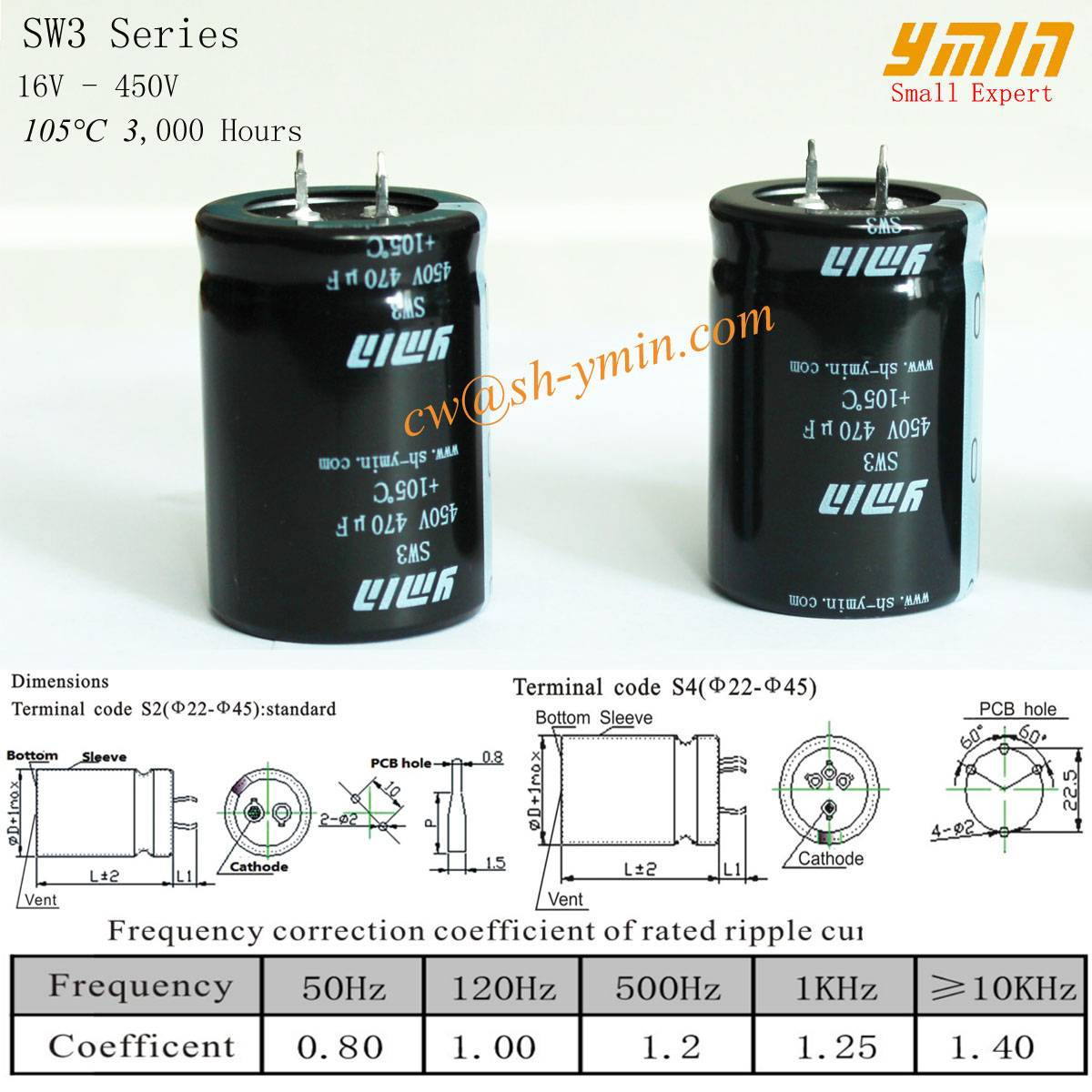 High Ripple Current Capacitor Snap in Electrolytic Capacitor for Air Conditioner