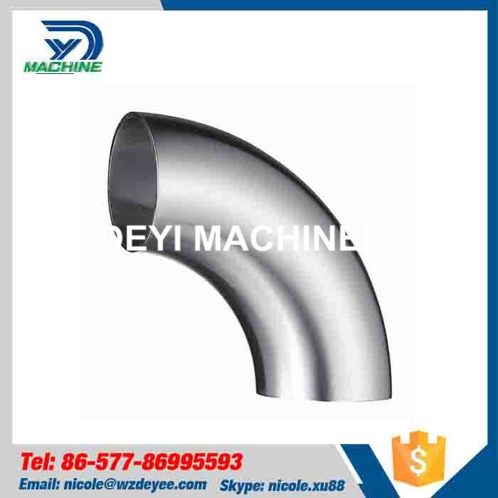 Sanitary Stainless Steel Long 90 degree Elbow